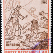 Stamp shows Dante inferno — Stock Photo