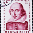 Stamp shows image of William Shakespeare — Stock Photo