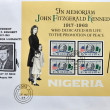 Stamp in memoriam John Fitzgerald Kennedy — Stock Photo #6993797