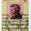 Stamp shows Mozart - Stock Photo