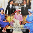 Stamp shows British royal family with Princess Diana of Wales — Stock Photo #6993960