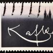 Stamp shows signature Franz Kafka — Photo