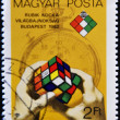 Royalty-Free Stock Photo: Stamp shows Rubik\'s cube