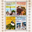 Stamp commemorating the 200 years of tourism in Switzerland — Stock Photo