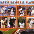 Stamp shows greatest baseball players - Stock Photo