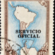 Royalty-Free Stock Photo: Stamp shows Map of South America