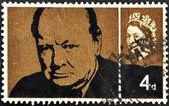 邮票展示温斯顿 · 丘吉尔 — 图库照片