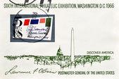 戳显示 sixt 国际集邮展览,华盛顿特区 — 图库照片