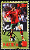 Stamp shows Portugal player, Cristiano Ronaldo — Zdjęcie stockowe