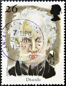 Stamp shows Dracula — Stock Photo