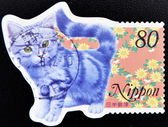 Stamp shows a cat — Stock Photo