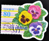 Stamp shows flowers — Stock Photo