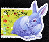 Stamp shows a rabbit — Stock Photo