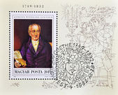 Stamp shows Johann Wolfgang von Goethe — Stock Photo