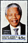Stamp shows Nelson Mandela — Stock Photo