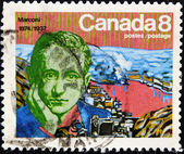 Stamp shows Guglielmo Marconi — Stock Photo