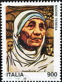 Stamp with Mother Teresa — Stock Photo