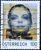 Stamp dedicated to actress Romy Schneider, Sissi — Stockfoto