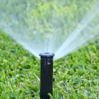 Stock Photo: Automatic lawn sprinkler