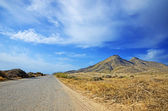 Road to an ancient volcano in Cabo de Gata — Stock Photo