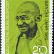 Stamp shows Mahatma Gandhi — Stock Photo