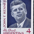 Stamp shows president John F Kennedy — Stock Photo #7201419