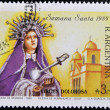 Stamp shows to the Sorrowful Mother, — Stock Photo