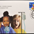Stock Photo: CANAD- CIRC2004: stamp printed in Canaddedicated to Montreal Children's Hospital, first day of issue, circ2004