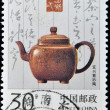 Stamp shows image of antique ceramic teapot — Stock Photo #7201539