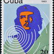 Stock Photo: Stamp shows Ernesto Che Guevar- legendary guerrilla