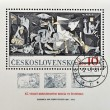 Stamp shows painting by Pablo Picasso Guernica — Stock Photo