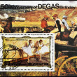 Stamp shows commemorates the 150th anniversary of the birth of Degas — Stock Photo