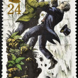 Stamp shows Sherlock Holmes and Moriarty — Stock Photo #7201862