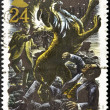 Stamp shows Sherlock Holmes and Sir Henry — Stock Photo #7201864