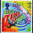 Stamp show an illustration of the novel 'The Time Machine' — Stock Photo