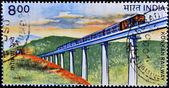 スタンプは、コンカン鉄道のイメージが表示されます。 — ストック写真