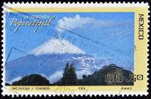 MEXICO - CIRCA 2007: A stamp printed in Mexico shows the Popocatepetl volcano, circa 2007 — Stock Photo