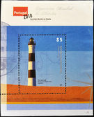 PORTUGAL - CIRCA 2010: A stamp printed in Portugal shows Querandí lighthouse in the province of Buenos Aires, Argentina, circa 2010 — Stock Photo