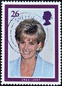 Stamp showing Diana, Princess of Wales — Stock Photo