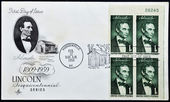 Stamp shows Painting of Lincoln — Stock Photo