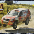 ARGENTINA - CIRCA 2010: A stamp printed in Argentina shows a dakar rally car, circa 2010 - Stockfoto