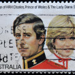 AUSTRALIA - CIRCA 1981: stamp printed by Australia, shows Prince Charles and Lady Diana, circa 1981 — Stock Photo #7377482