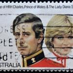 AUSTRALIA - CIRCA 1981: stamp printed by Australia, shows Prince Charles and Lady Diana, circa 1981 — Stock Photo