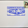 CUBA - CIRCA 1986: A stamp printed in Cuba devoted to 25 anniversary of the grant scheme, circa 1986 - Stock Photo