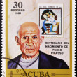 CUBA - CIRCA 1981: A stamp printed in Cuba shows Pablo Picasso, circa 1981 - Stockfoto