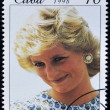 CUBA - CIRCA 199: A stamp printed in Cuba shows Lady Diana, circa 1998 - Stockfoto