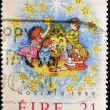 IRELAND - CIRCA 1989: A stamp printed in Ireland celebrating Christmas, circa 1989 - Stockfoto