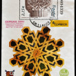 SPAIN - CIRCA 2003: A stamp printed in Spain shows a column in the playground of the Alhambra, circa 2003 - Stockfoto