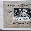 "SPAIN - CIRC1981: stamp printed in Spain shows painting by Pablo Picasso ""Guernica"", first day of issue, circ1981 — Stock Photo #7377544"