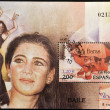 SPAIN - CIRCA 2000: A stamp printed in Spain shows the flamenco dancer Sara Baras, circa 2000 — Stock Photo